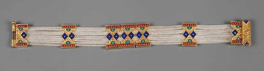 Bracelet with enamel deposits - photo 1