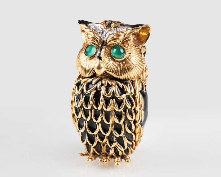 "Pierino Frascarolo ""miniature gold box 'owl', with brilliant trim"" - photo 1"