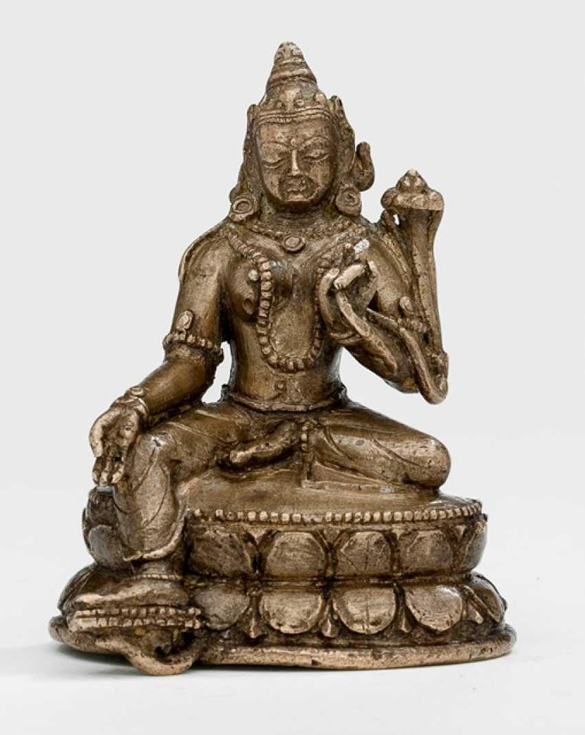 Bronze of Syamatara on a Lotus - photo 1