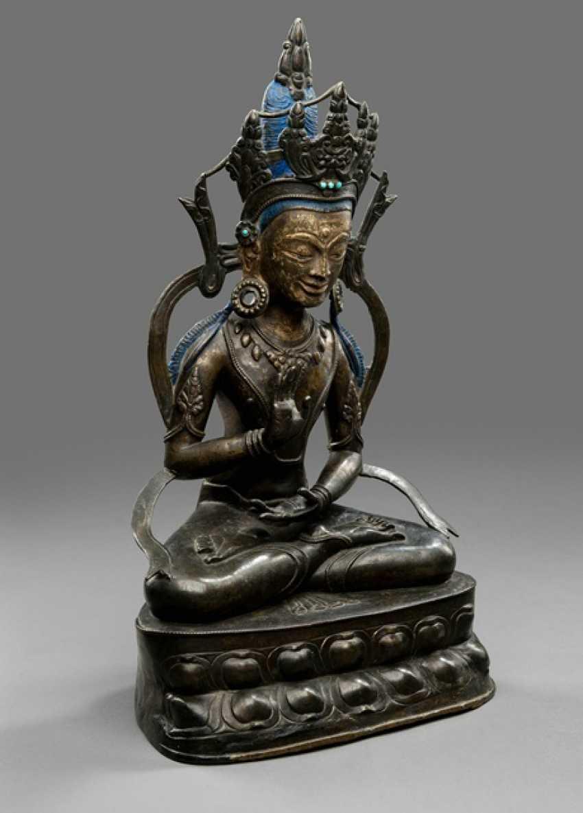 Large Bronze of the Amoghasiddi - photo 4