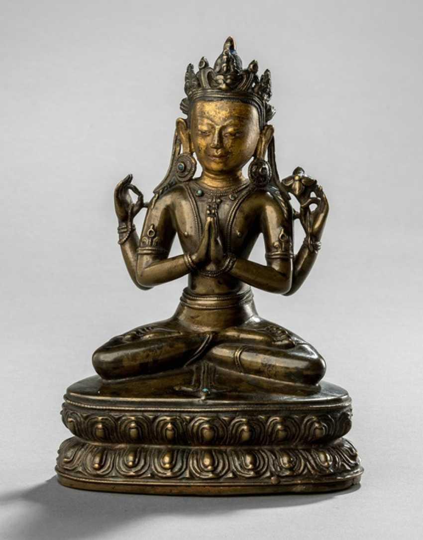 Shadakshari avalokiteshvara auf einem Lotos - photo 1