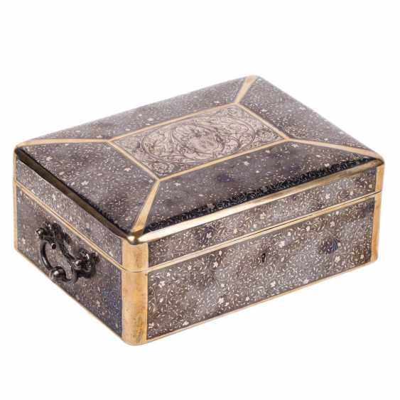 Large Russian casket with blackening. Silver, 84. The Mark Of P. Ovchinnikov - photo 1