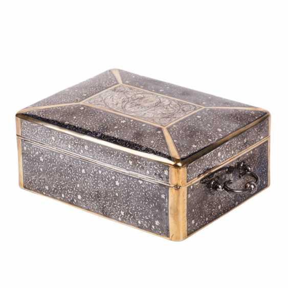 Large Russian casket with blackening. Silver, 84. The Mark Of P. Ovchinnikov - photo 4
