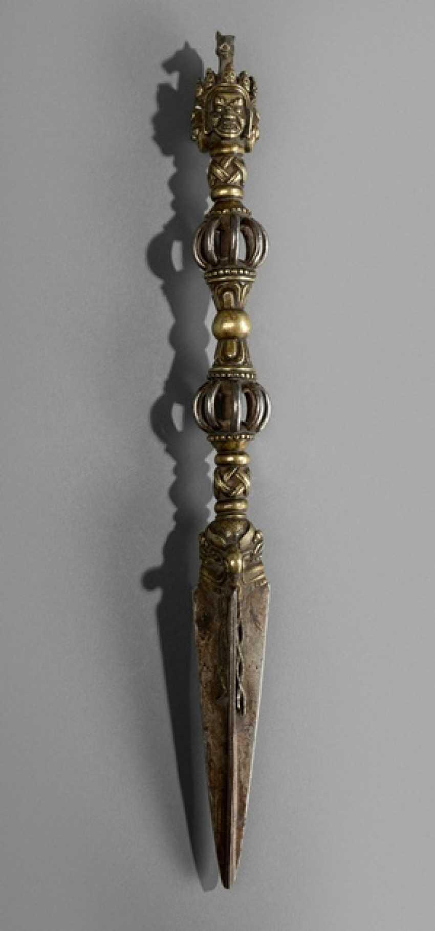 Phurbu, made of Bronze and iron - photo 1