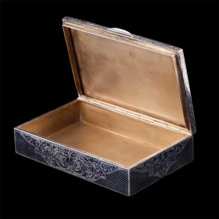Russian silver box with niello - photo 3