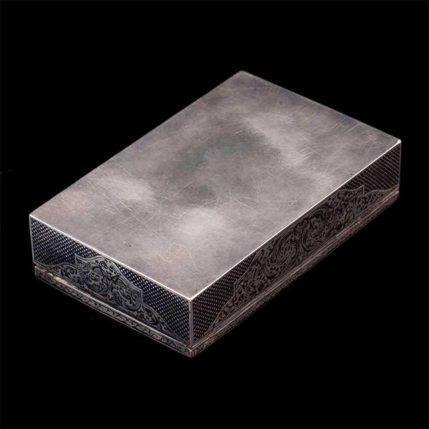 Russian silver box with niello - photo 7