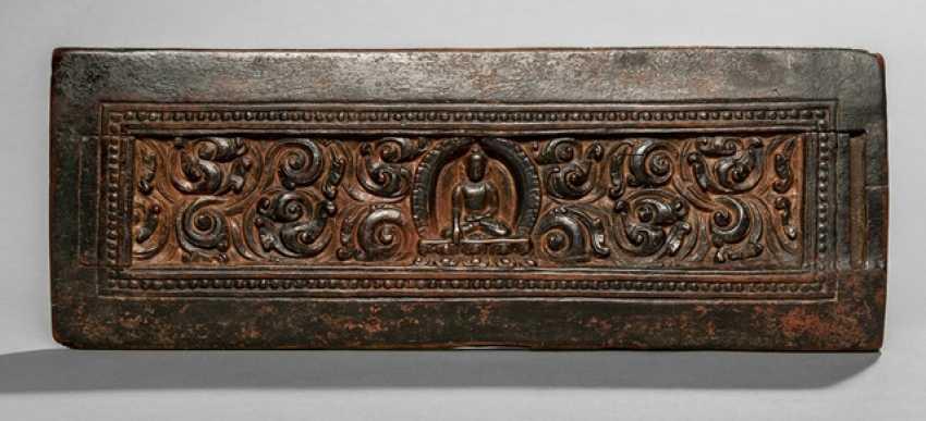 Book cover with Buddha Shakyamuni, made of wood - photo 1