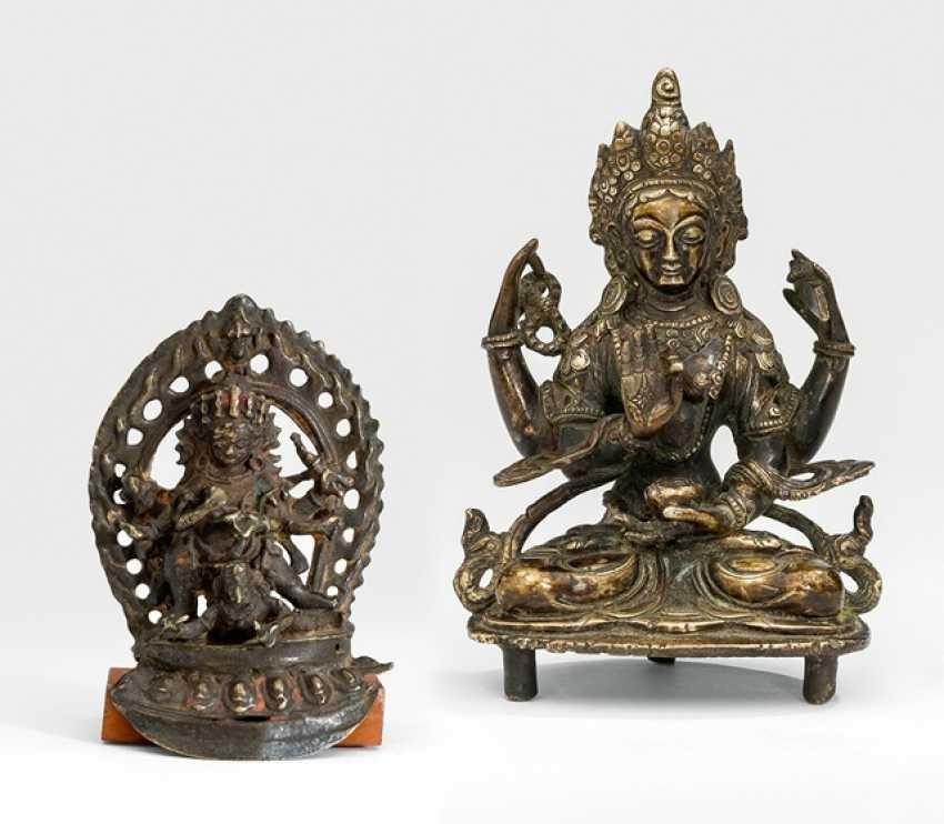 Bronze des Bhairava und der Prajnaparamita - photo 1