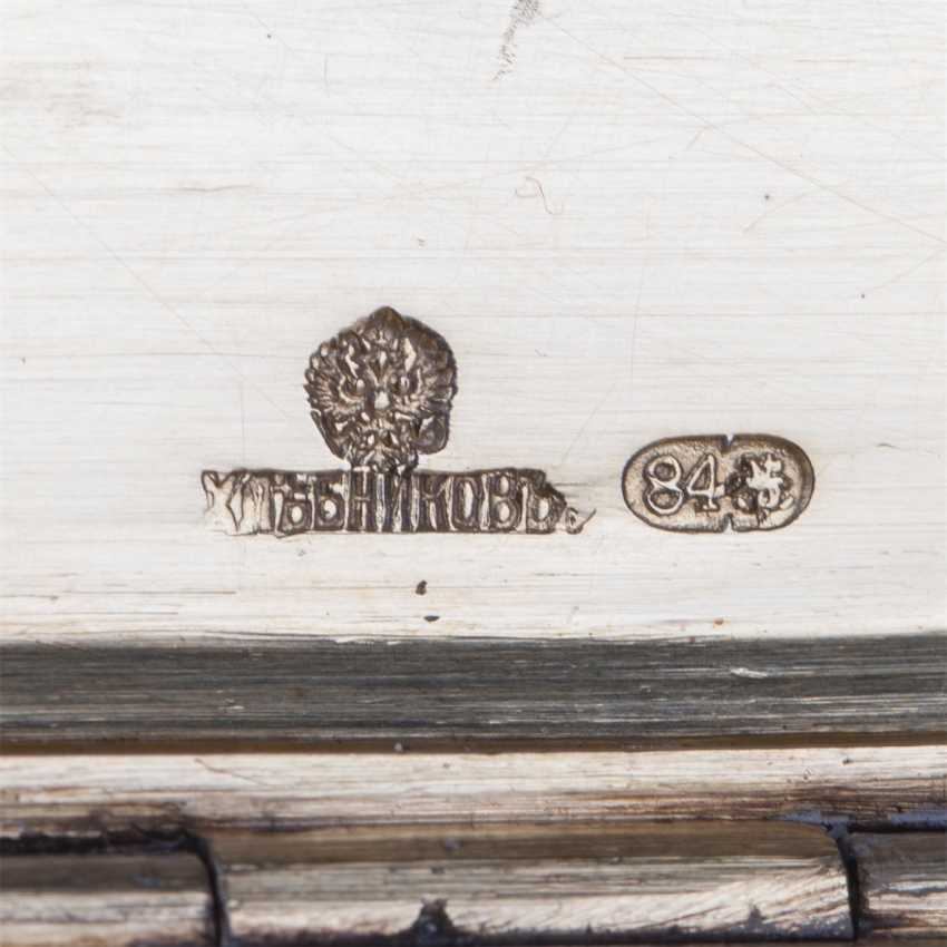 Russian silver cigar box with a dedicatory inscription - photo 6