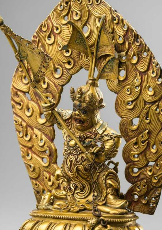 Gilded Bronze of Dorje Drakden, with the consecration of the gifts - photo 2