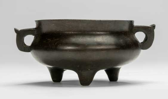 Incense burner in Bronze with two side Handle - photo 1