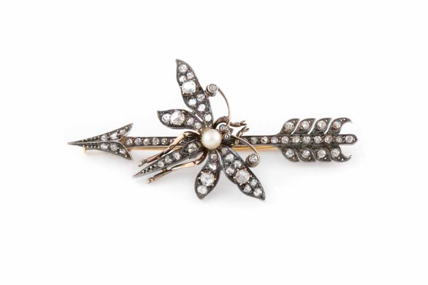 HISTORICAL BROOCH WITH DIAMONDS - photo 1