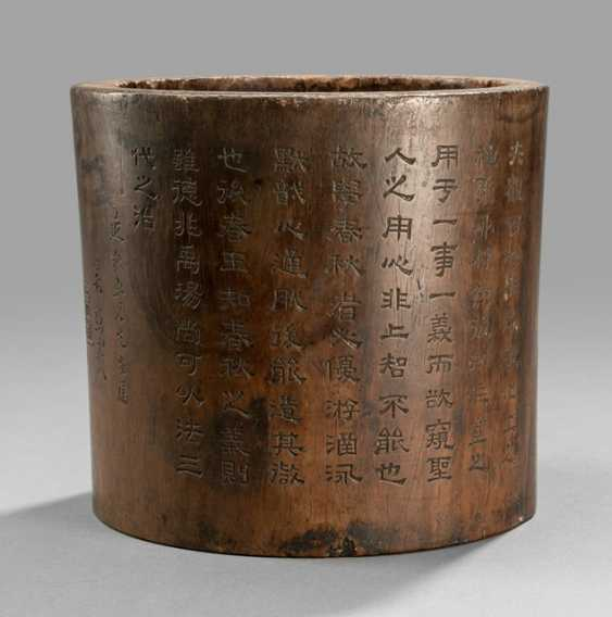 Brush cups are made of hard wood with inscription - photo 1