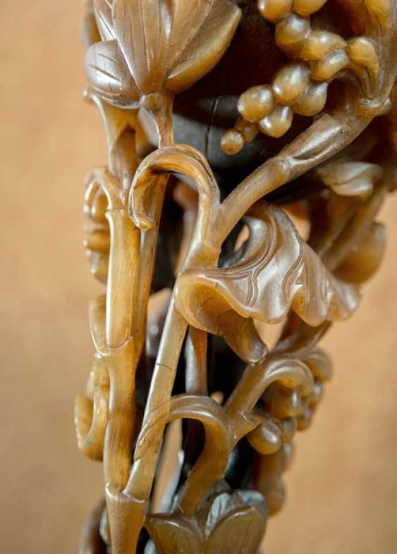 Large rhinoceros Cup with Lotus and reeds - photo 4
