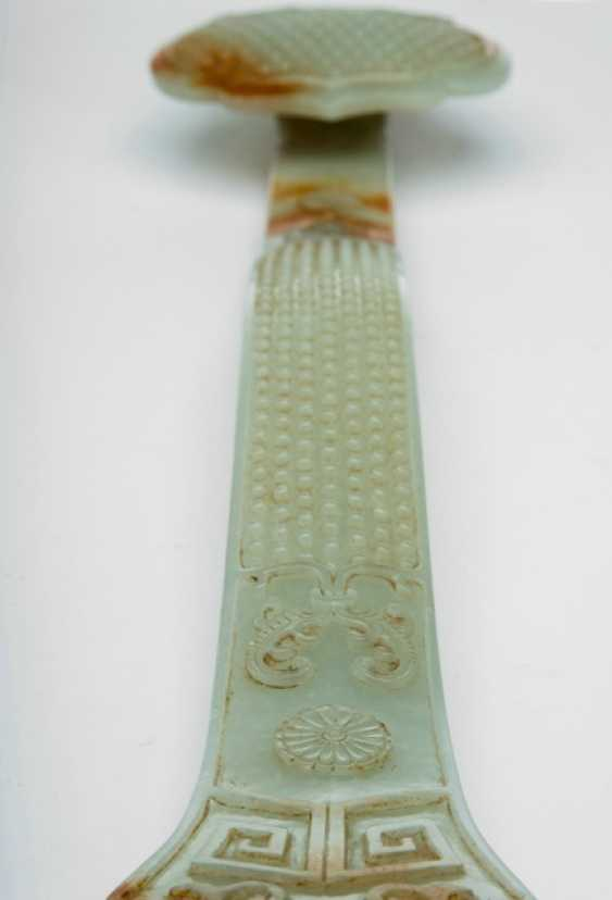 Excellent Ruyi scepter Jade with caramel-colored tint - photo 3