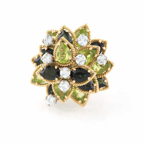 COCKTAIL RING WITH PRECIOUS STONES 'JACK GUTSCH ENVIOUS' UNITED STATES