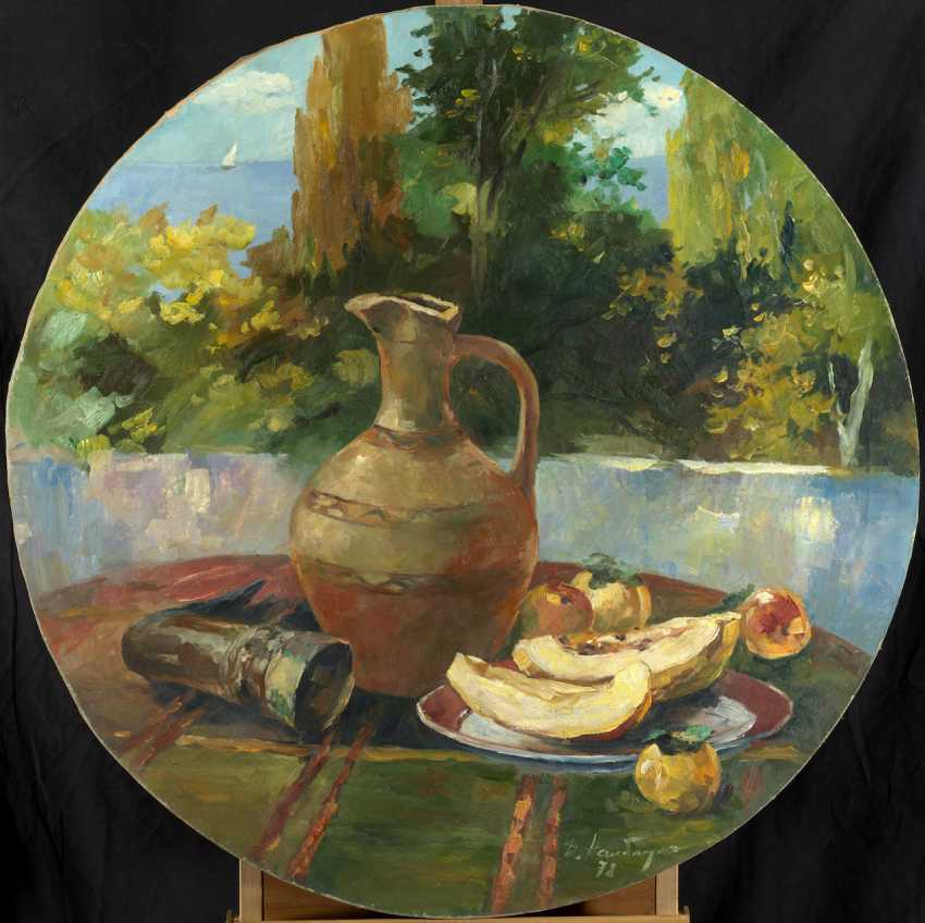 Still Life with a Jug and Melon, signed and dated 1978. - photo 1