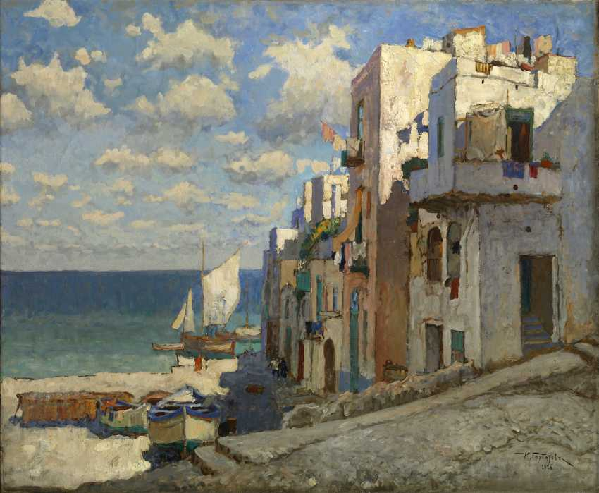 Fishermen's Road, Capri, signed and dated 1926. - photo 1