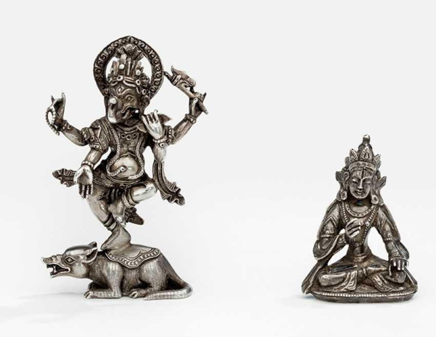 Buddha and Ganesha made of silver - photo 1