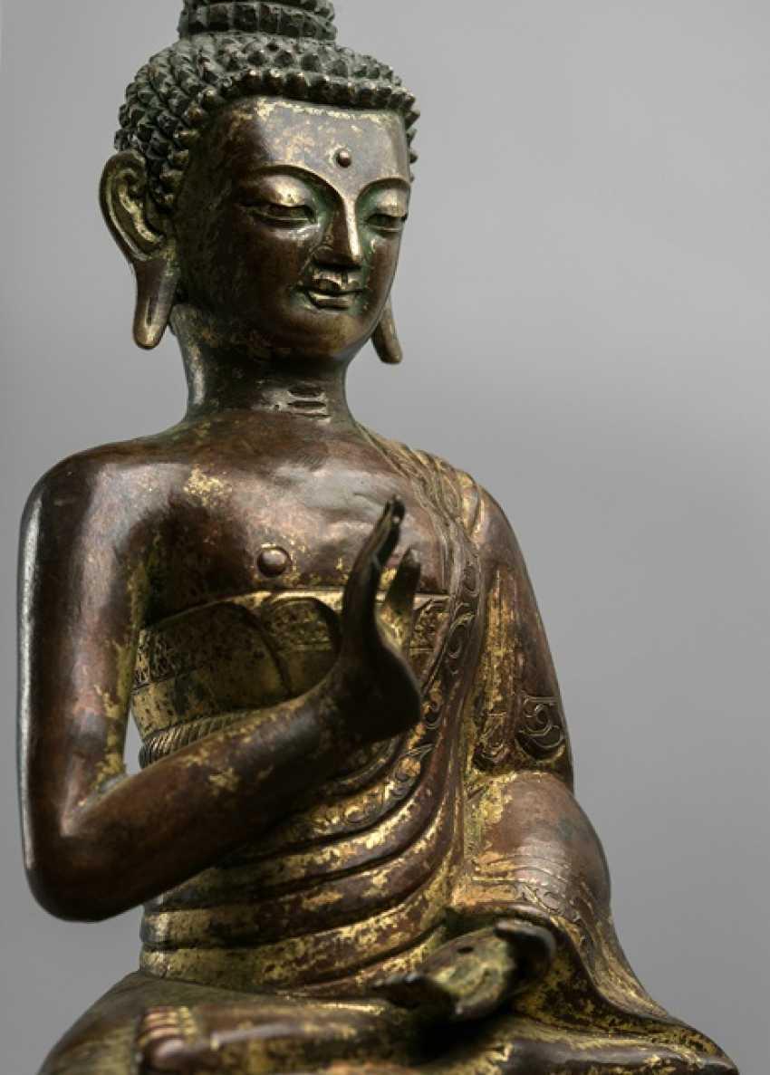 Feuervergoldete pushed figur des buddha shakyamuni lot 348 for Buddha figur