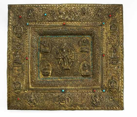 Intarsiertes ritual panel with Amoghapashalokeshvara copper - photo 1
