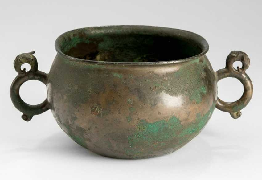 Bronze-handled jar with a finely crafted Dragon - photo 1