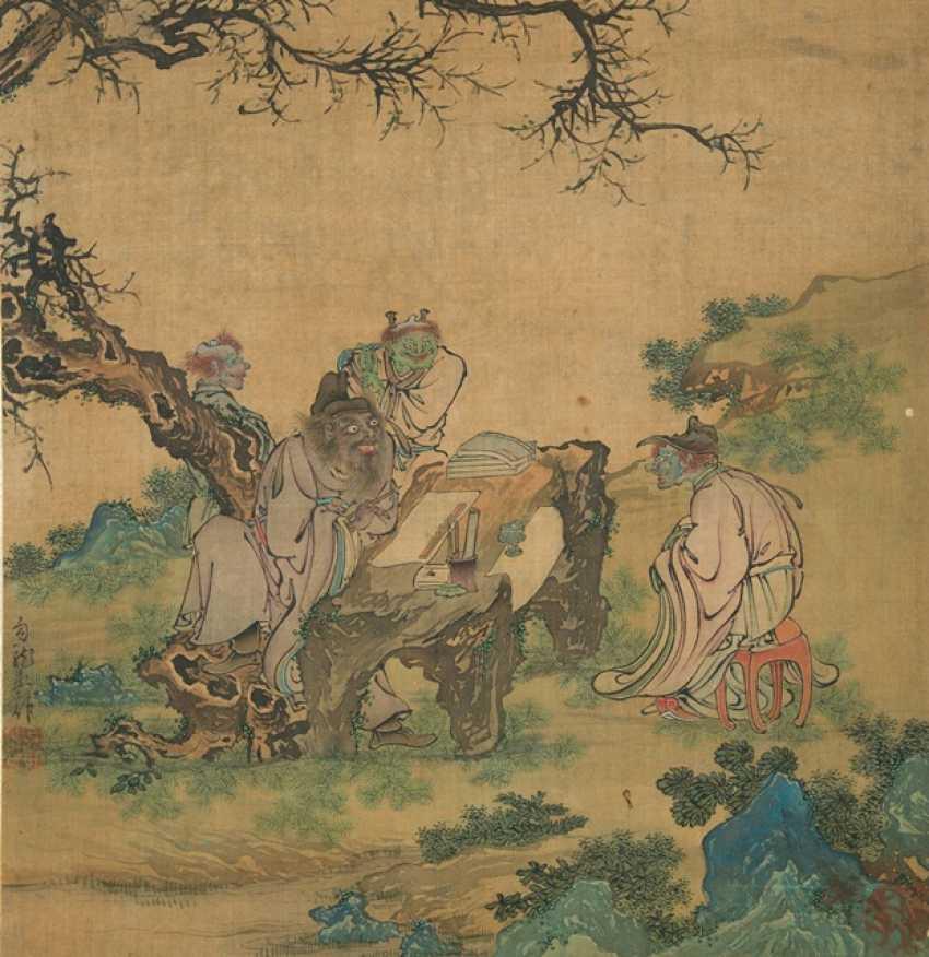 Four paintings in the style of Tang Yin Lu Zhi, Gou long Huang and Zhang Chun - photo 1
