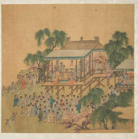 Four paintings in the style of Tang Yin Lu Zhi, Gou long Huang and Zhang Chun - photo 2