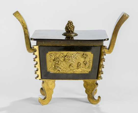 Sawasa-incense burner with fire-gilded Panels and paint the lid - photo 1