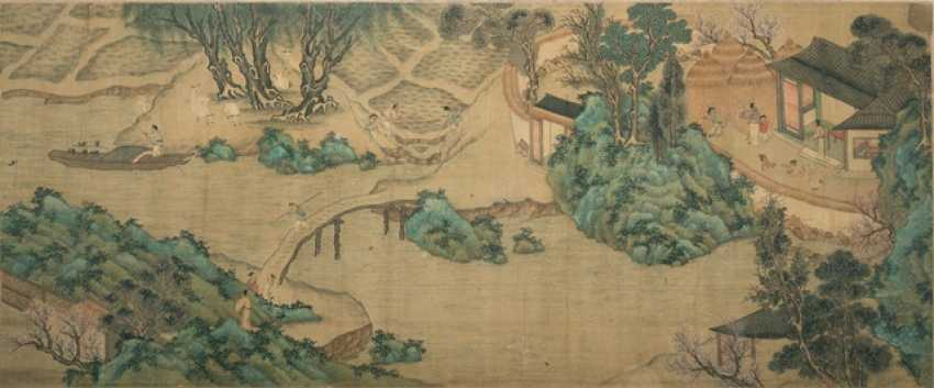 Part of a cross-roll with river landscape and people - photo 1