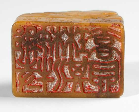 A seal, made of soapstone and a Royal seal - photo 2