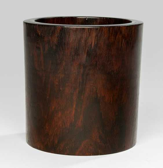 A cylindrical brush Cup made of hard wood - photo 1