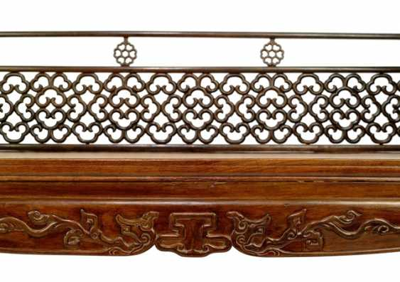 Fine and rare bed made of hard wood - photo 4