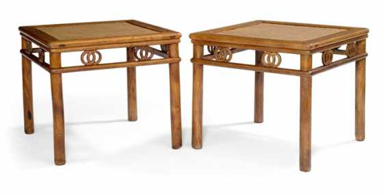 Pair of fine Huanghuali stool - photo 1