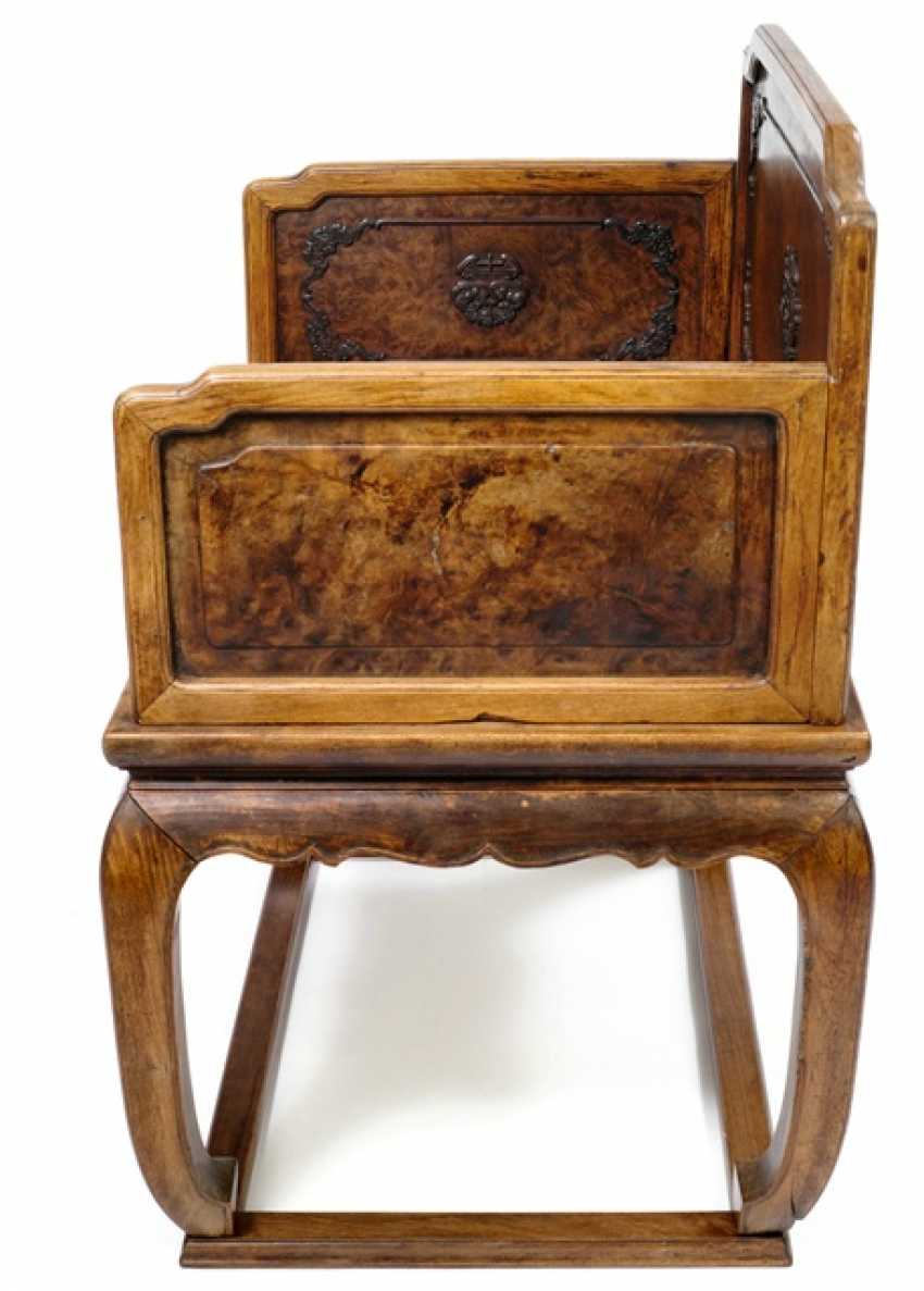 Rare throne made of hard wood and root wood - photo 2