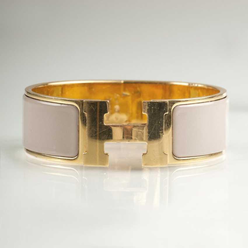 Fashionable Clic-Clac bangle bracelet with enamel trim - photo 1