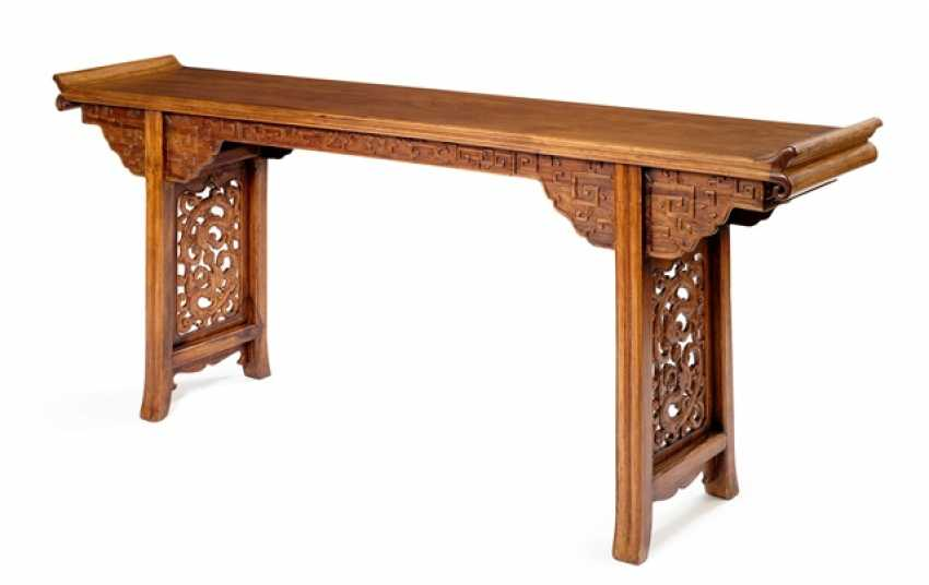 Altar table made of hard wood with the dragon carving - photo 1