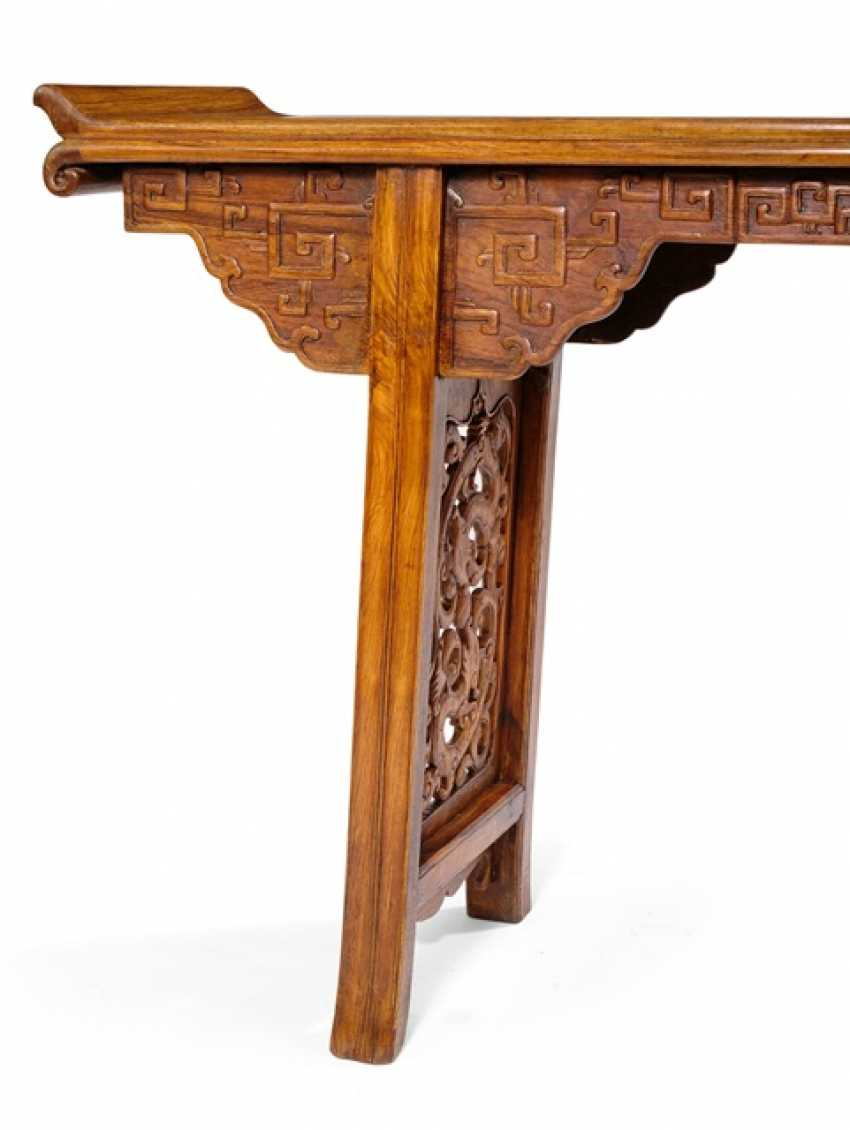 Altar table made of hard wood with the dragon carving - photo 2