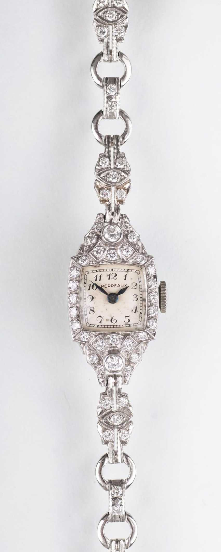 Art-Deco ladies ' wrist watch with diamonds - photo 1