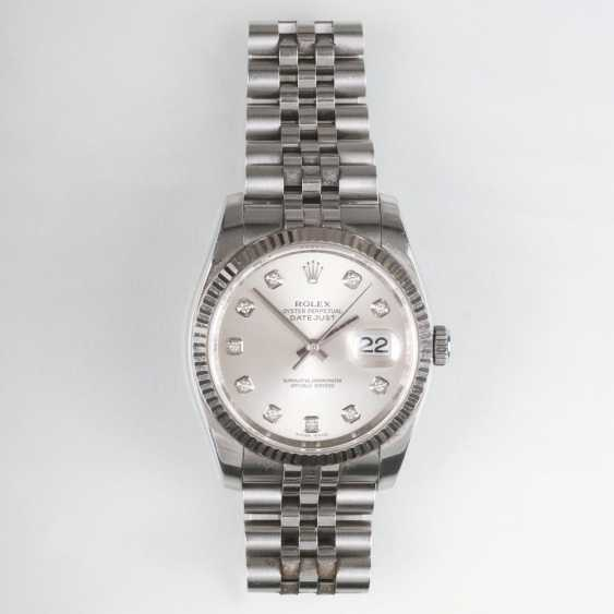 Men's wrist watch with diamonds 'Oyster Perpetual Date Just' - photo 1