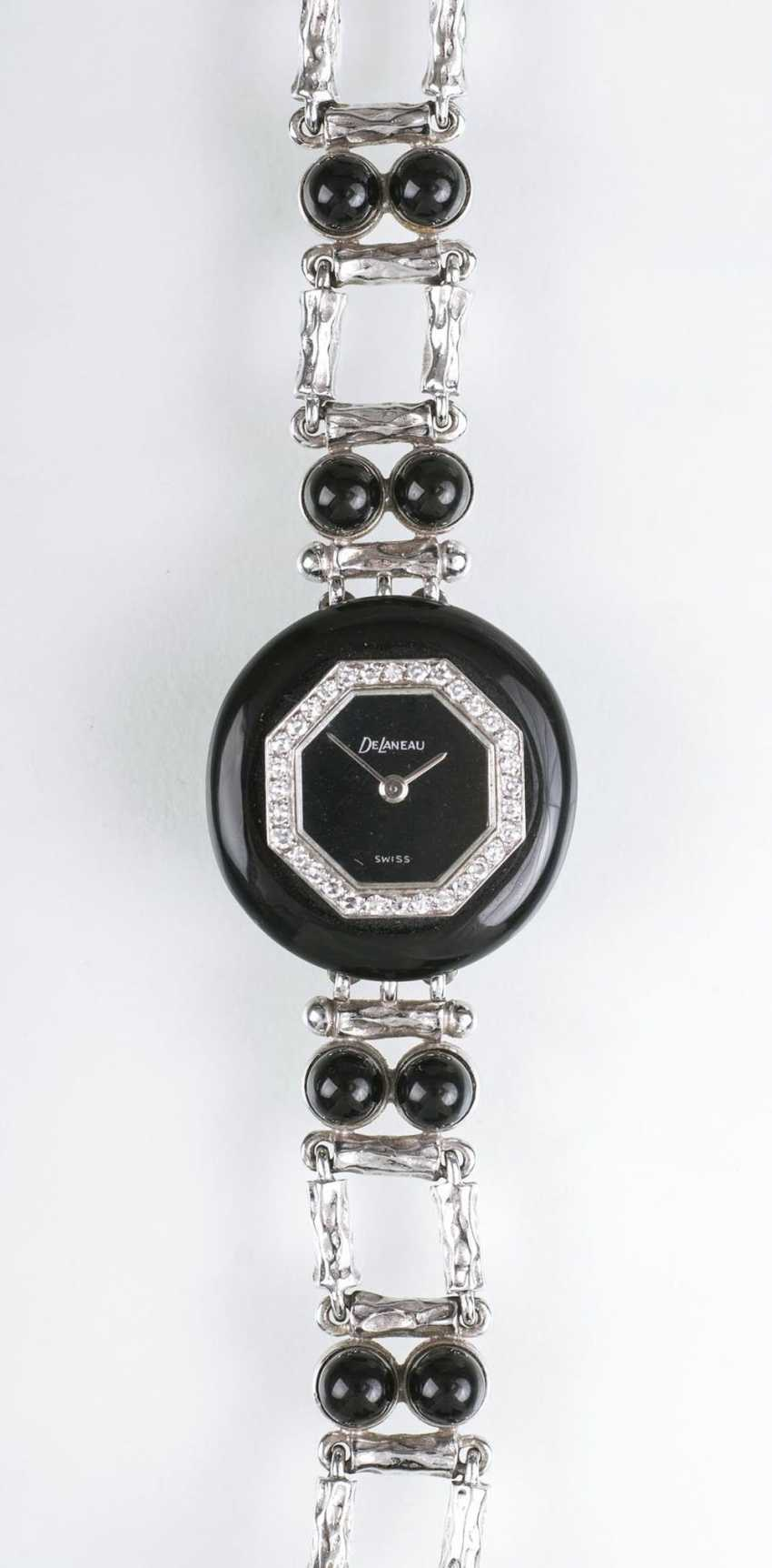 Vintage ladies wristwatch with Onyx and diamonds from the jeweller Wilm - photo 1