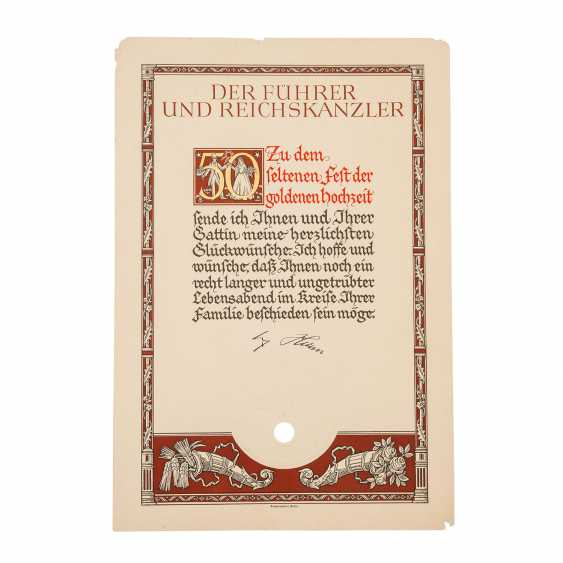 German Reich 1933-1945 - jewelry document for the Feast of the Golden - photo 3