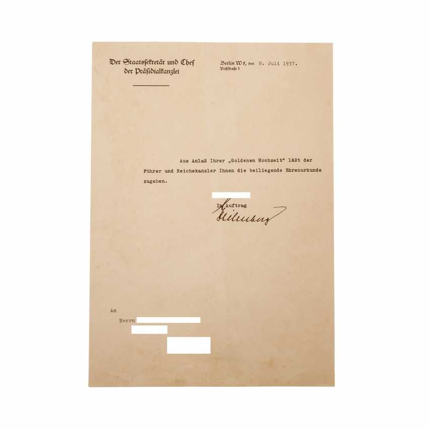 German Reich 1933-1945 - jewelry document for the Feast of the Golden - photo 1