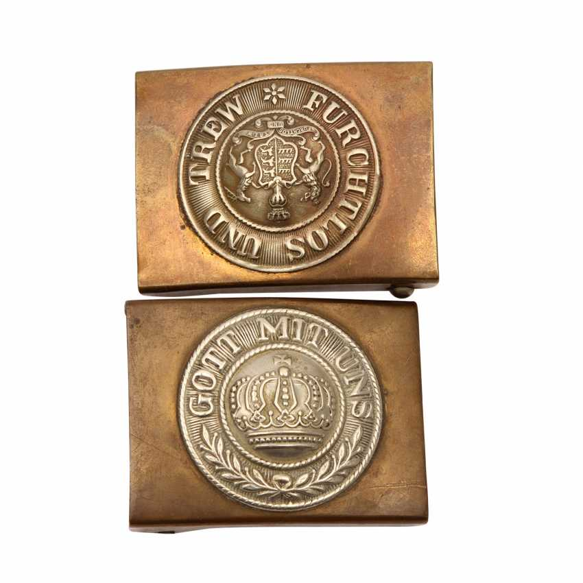 Vintage Pair Of 3 belt buckles GOD is WITH US (2x) - photo 4