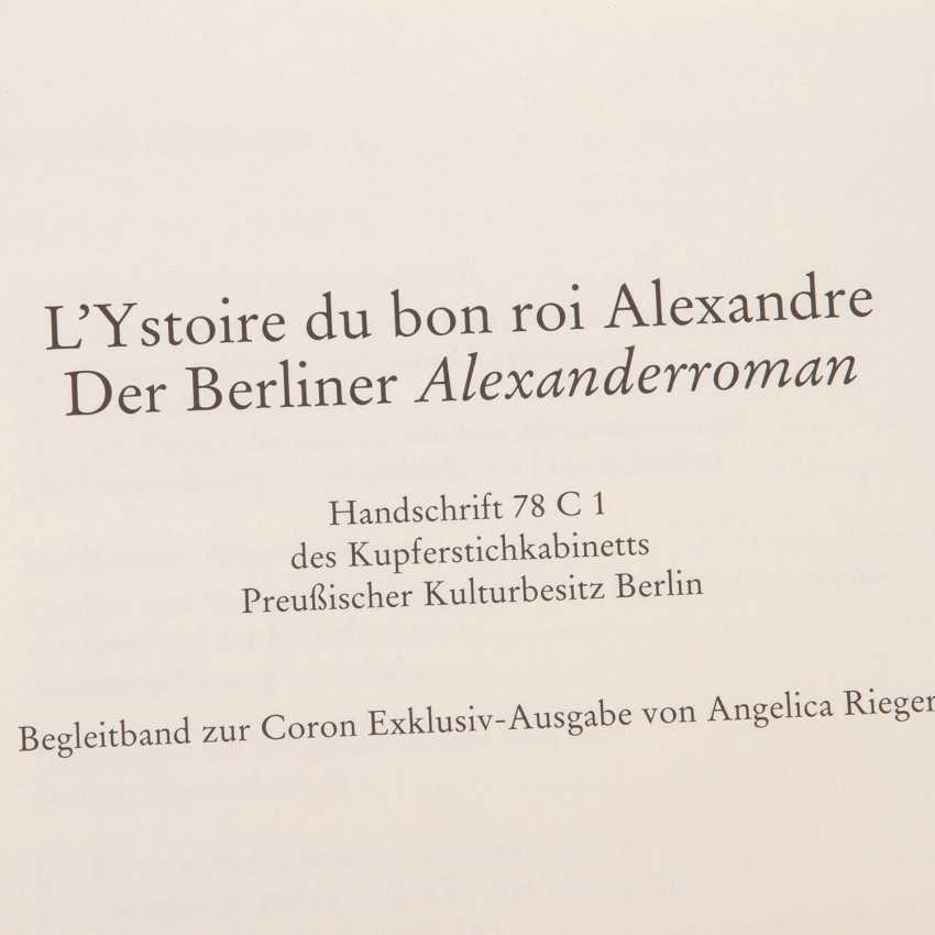 FACSIMILE of The Berlin, Alexander Roman/L'histoire du bon roi Alexandre, 13. Century- - photo 5
