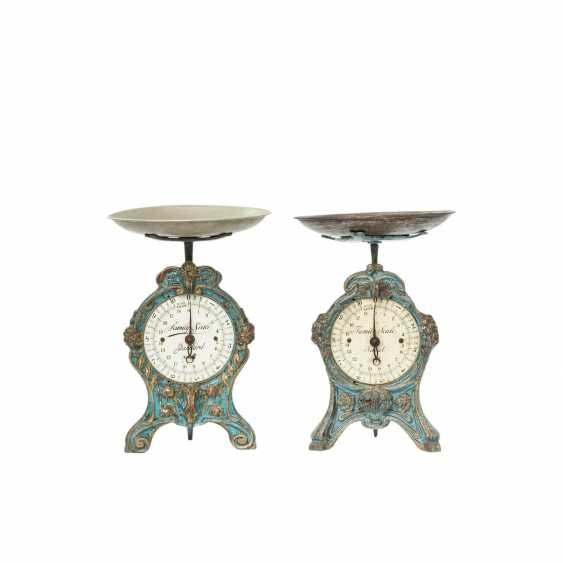 Attractive collection of two art Nouveau kitchen scales, - photo 1