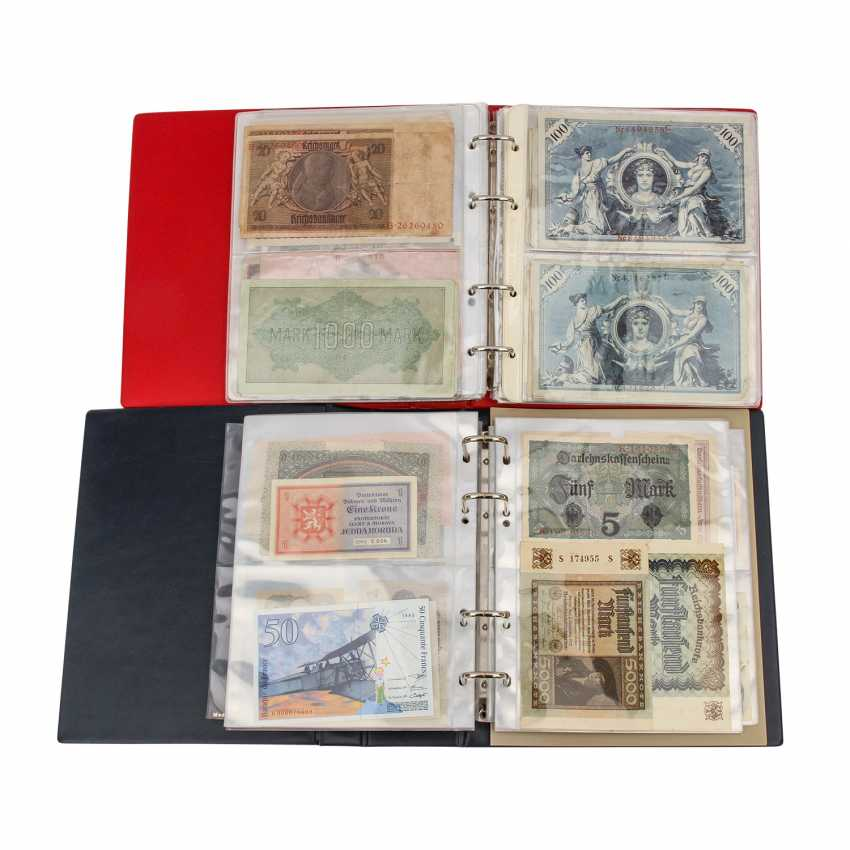 Dt. Empire / Austria - About 100 mostly different notes, - photo 1