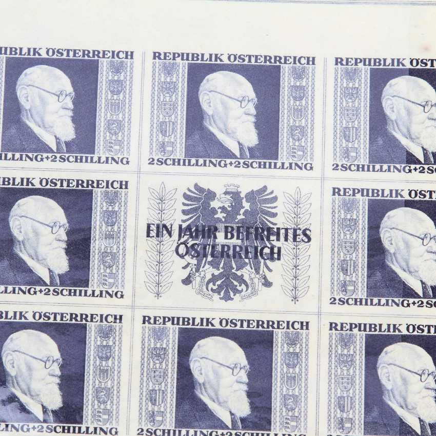 Austria - 1946, Renner Miniature Sheets, - photo 2