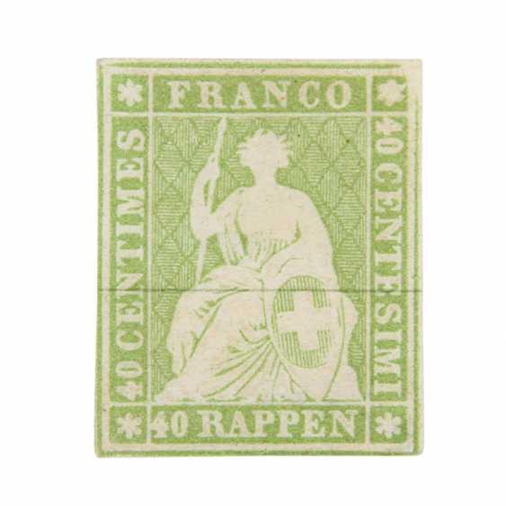 Swiss Federal Post - 1854, 40 Rp., Strubel, - photo 2