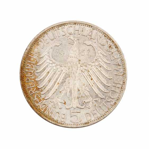 BRD 5 DM 1957 J v. Eichendorff, - photo 1